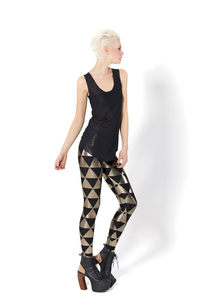 Triangle Gold Leggings - LIMITED