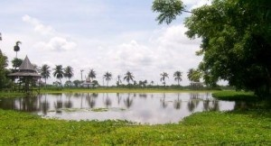 It's an artificial Lake in Bangkalan, Madura, East Java. The water is clear and so calm. There are some pedal boats and row boats for everyone, as a vehicle to go around the lake. One boat can load two adults. Pedal it up everywhere on this hectares-wide lake with your friend or beloved.