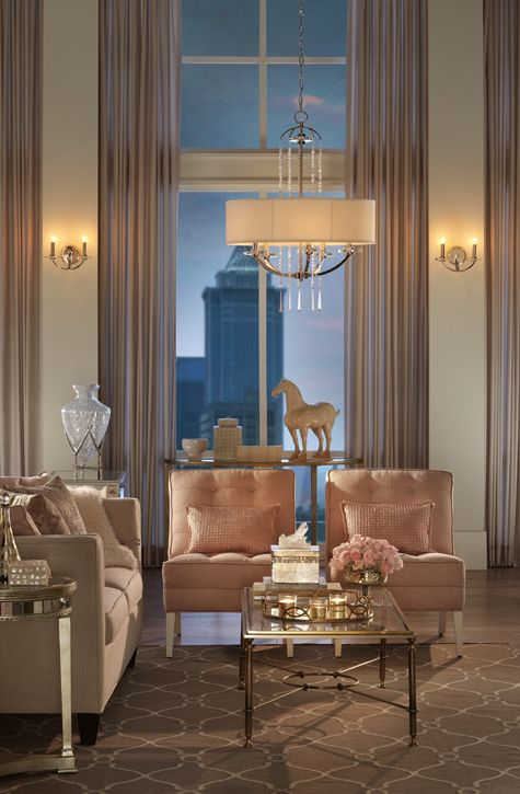 Living Room Lighting Ideas at The Home Depot - oh wow this is perfectly pulled together and so sophisticated. Richard Marton Electrical Contractor can help you transform average into amazing.