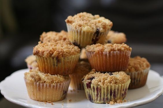 Sourcream Blueberry Crumb Muffins