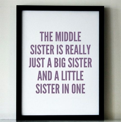 Middle and Little Sister Quotes                                                                                                                                                                                 More