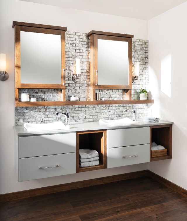 Floating Vanity System From: Dura Supreme Cabinetry | Kitchen Bath Design News