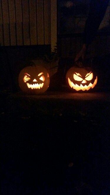 My first pumpkin - carving!