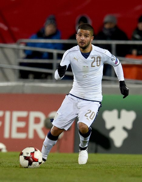 Lorenzo Insigne of Italy in action during the FIFA World Cup 2018 group G Qualifiers football match beetween Liechtenstein and Italy at the Rheinpark Stadion on November 12, 2016 in Vaduz, Liechtenstein.
