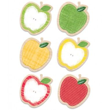 """Apples 6"""" Designer Cut-Outs Upcycle Style"""
