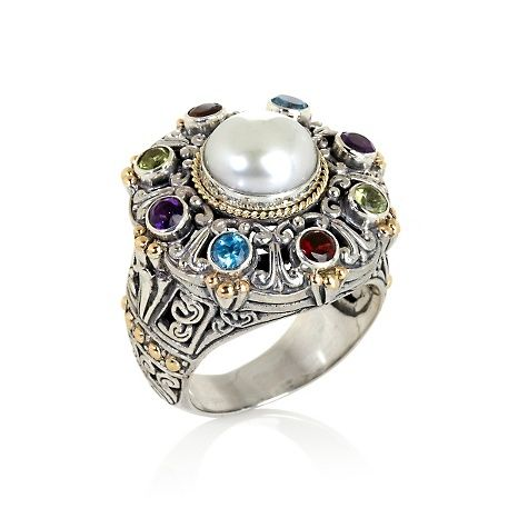 Bali Designs by Robert Manse Sterling Silver and 18K Gold 2-Tone Cultured Fresh at HSN.com