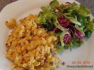 """Buffalo-chicken macaroni and cheese (fra Food Network Magazine""""). ADVARSEL: ikke for kalorie-forskrækkede mennesker!"""