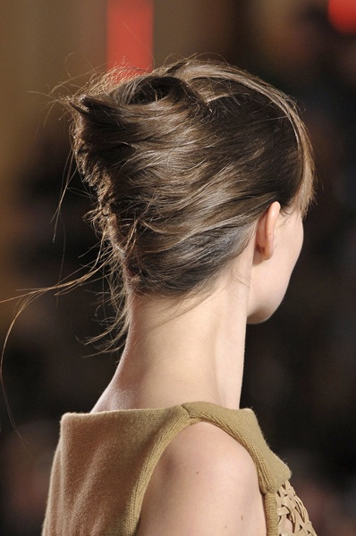 Hairstyle Inspiration - formal - party - hair up do - Rolled or Twisted Up Do