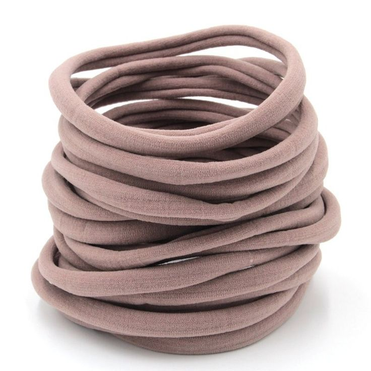 25pcs Free Shipping-Nude Nylon Headband-One-size-fits-all-Baby-30-34cm-Thin and Stretchy by SooSooCo on Etsy