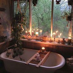 Boho-tastic banheiro banheira velas