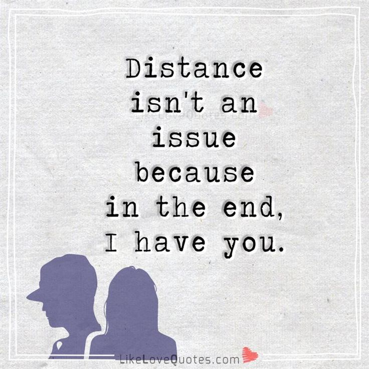 ending a relationship because of distance