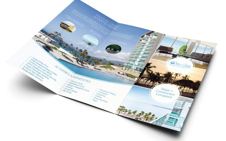 Bala Beach Resort trifold brochure design