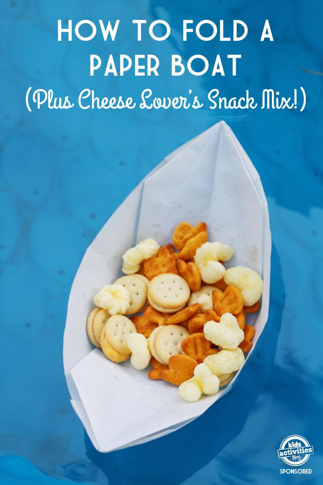 Simple Origami Paper Boats {Plus Snack Mix!} brought to you by @Horizon_Organic