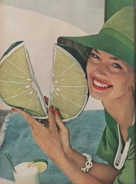 1950s summer fashion fruity fun in lime green.