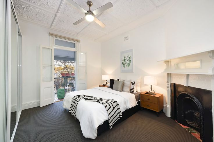 Interior Design, White, Dark, 2nd Level, bedroom, Fireplace, Mirrors, For Sale, Real Estate, Annandale, Pilcher Residential