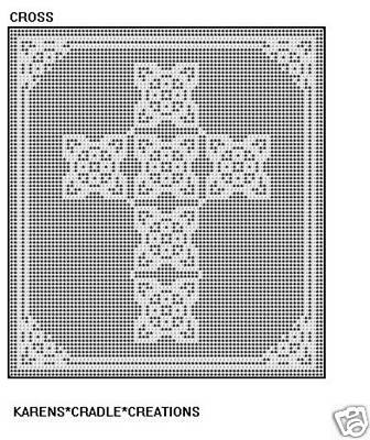 Cross Filet Crochet Pattern | eBay