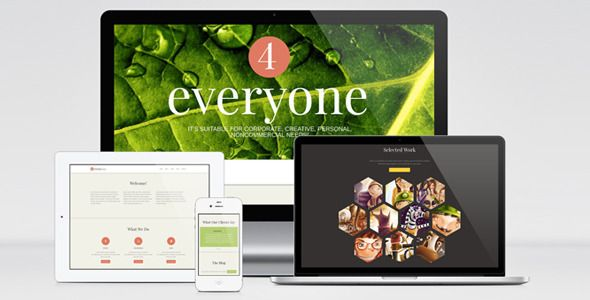 4Everyone - One Page Retina HTML Template - ThemeForest Item for Sale