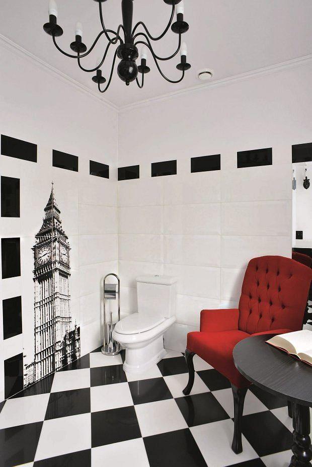 Wnętrza Kolory Powagę I Surowość Czarno Białej łazienki