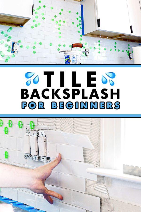 How To Install Subway Tile Installing Tile Backsplash For The First Time Crafted Workshop Tile Backsplash Glass Mosaic Tile Backsplash Glass Tile Backsplash Kitchen