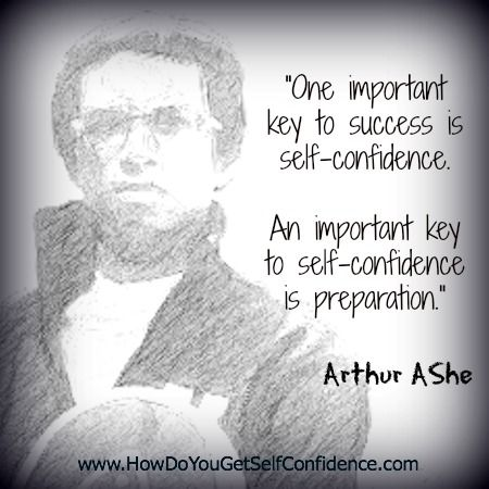 Improve Self Confidence with weekly Self-Confidence Quotes -Arthur Ashe | Improve Self Confidence - Succeed in Life
