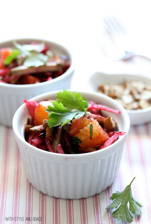 Raw Beet Salad with Jicama, Avocado and Oranges