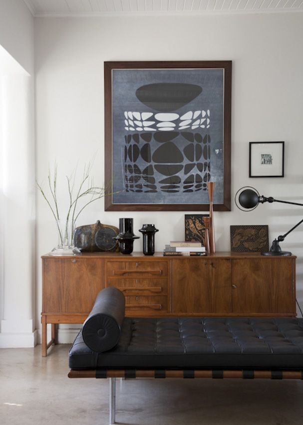 one fine day...I will have my own Mies van der Rowe Barcelona daybed...and I might style it something like this