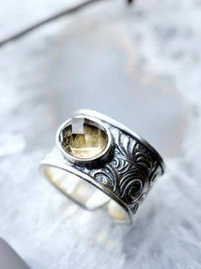 Zilveren ring rookkwarts - Silver ring smoky quartz #happinez