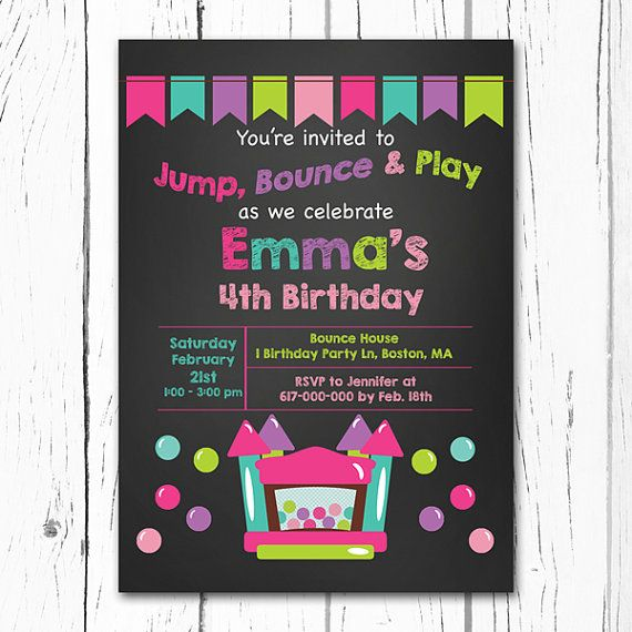 Bounce House Invitation Bouncey House by DesignedbyGeorgette