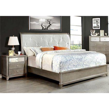 Furniture of America Lilliane 2 Piece Queen Sleigh Bedroom Set in Silver. 62 best Master Bedroom Decor images on Pinterest