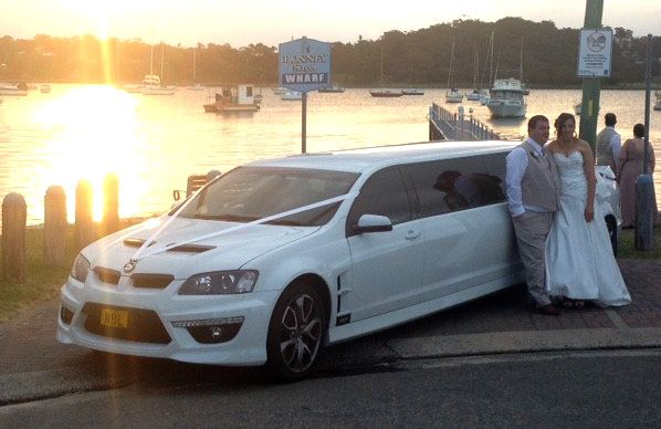 beautiful Bride & Groom with the HSV stretch in Sydney