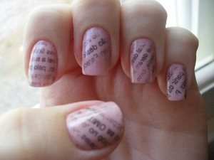 25 beautiful newspaper nail art ideas on pinterest diy nails newspaper nail art step by step do it yourself at home and it wont cost a penny prinsesfo Choice Image