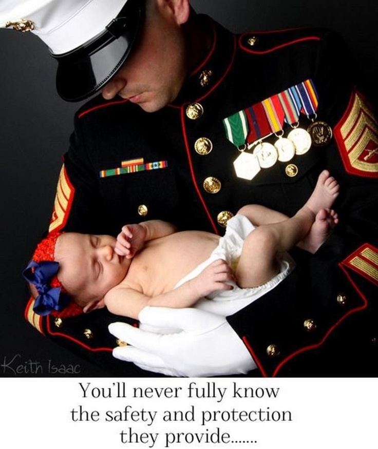 USMC Marines Military Father Baby This picture is breath taking! :')