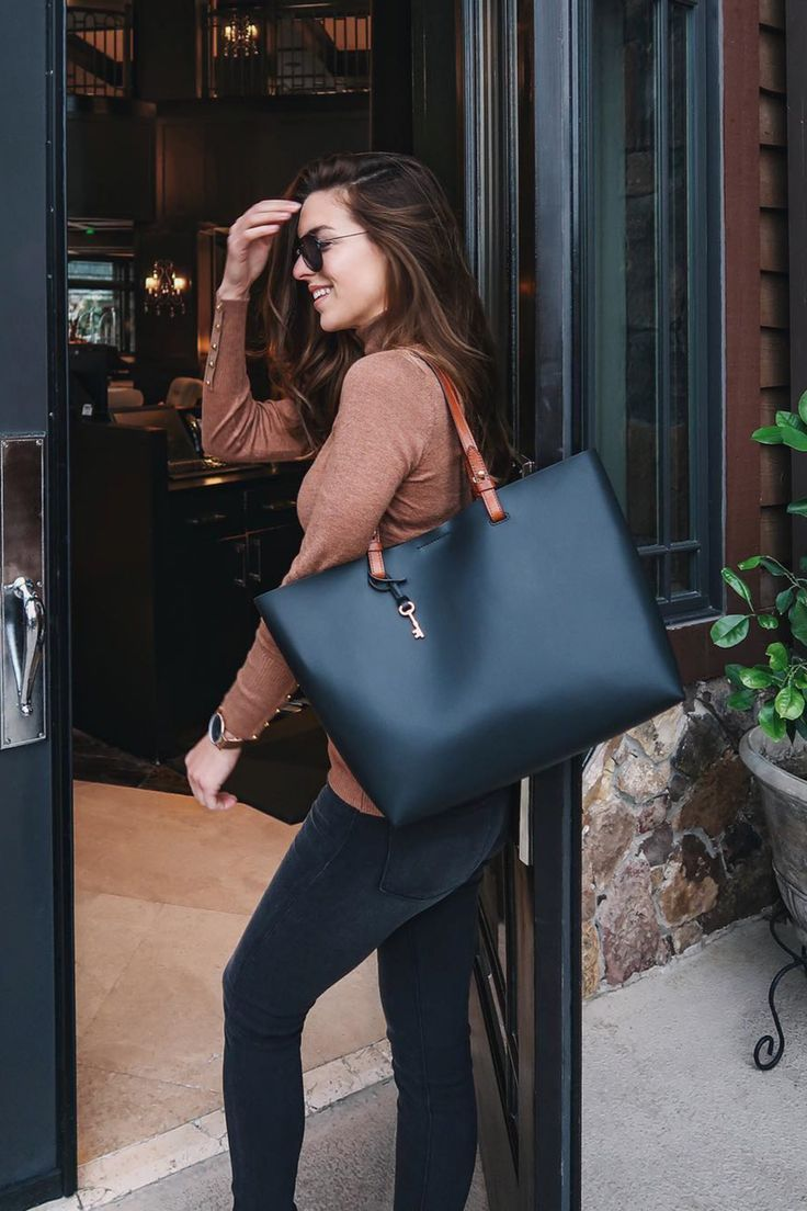 customizable leather Rachel tote x Fossil