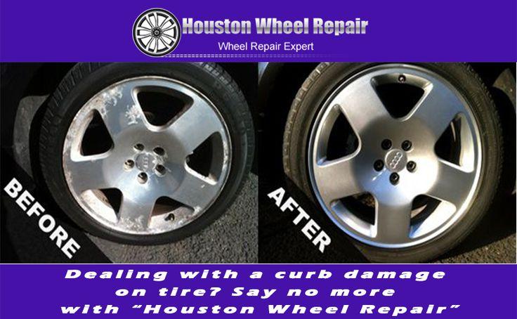 Curb damage houston wheel repair curb rash repair in