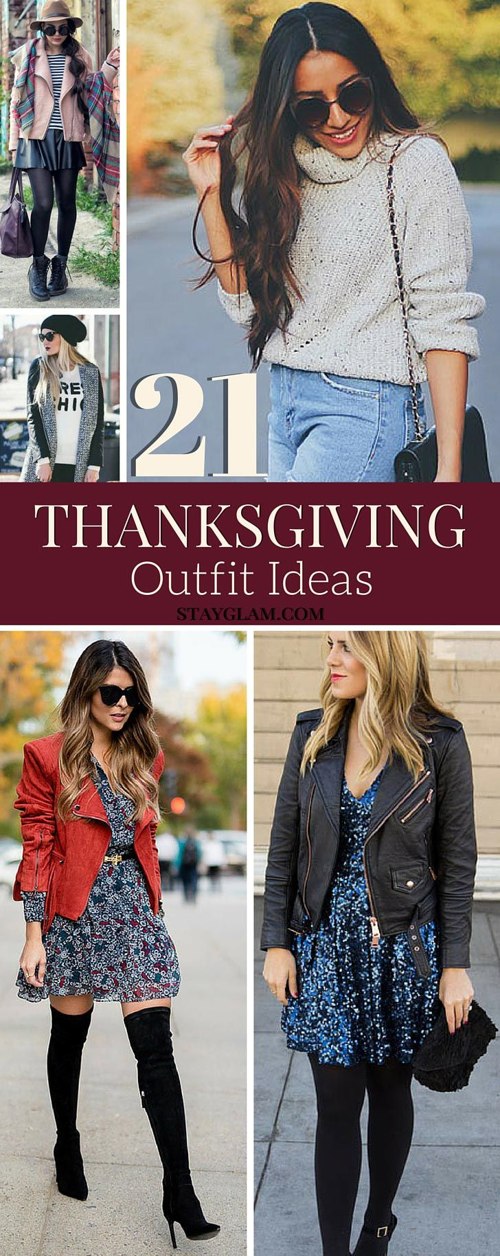 21 Comfy & Stylish Thanksgiving Outfit Ideas