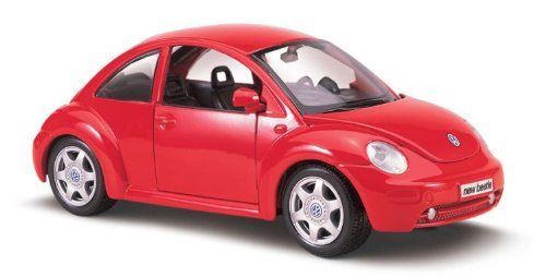 Maisto Special Edition - Volkswagen New Beetle Model Car 1:25 - Red (31975)  Manufacturer: Maisto Enarxis Code: 018130 #toys #Maisto #miniature #cars #Volkswagen #Beetle