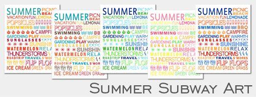 Summer Subway Art
