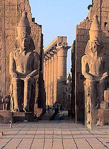 De luxor tempel, egypte
