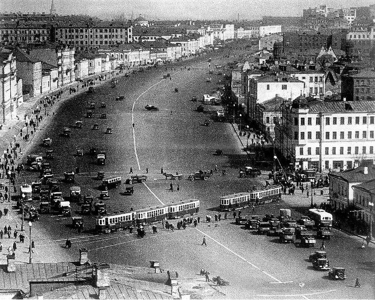 440244 Садовое кольцо, вид со стороны Самотечной площади С. Коршунов 1938.jpg