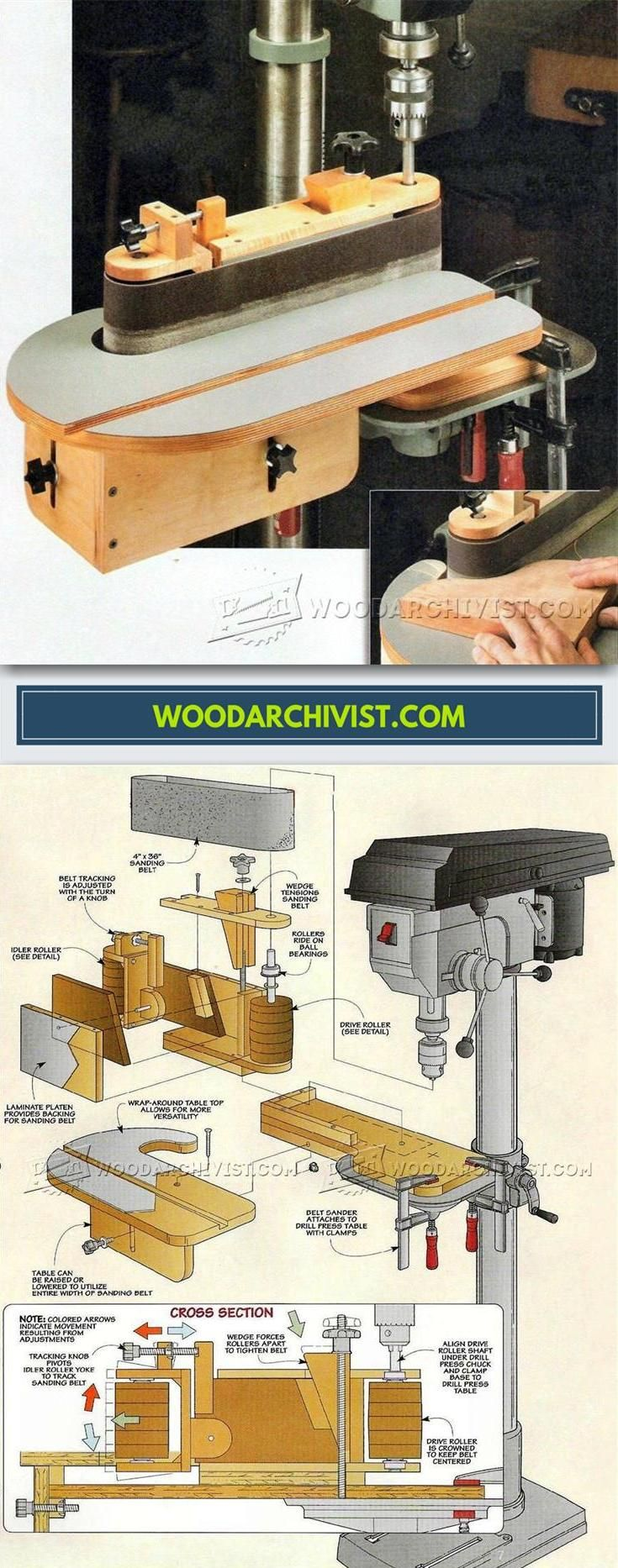 DIY Belt Sander - Sanding Tips, Jigs and Techniques   WoodArchivist.com