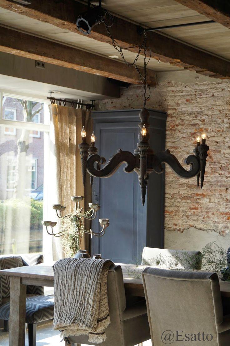105 best landelijke eetkamer images on pinterest - Eetkamer deco ...