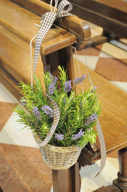 Rustic decoration for the Church pews