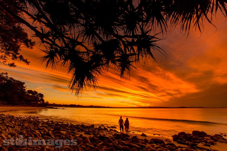 """On one of the last evenings during our two week stay in Noosa we were treated to the best sunset Ive seen in a few years. On top of that it was at our special haven """"Little Cove"""". Ever since we first visited Noosa on our year long trip around Australia back in 1999, Little Cove has remained one of our favourite beaches and on this evening we had the place pretty much to ourselves. http://stsurfimages.com/product/s1666-1363/"""