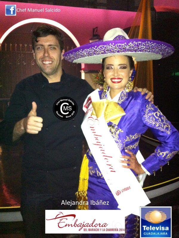 muchisimas felicidades Alex Iba'Go, por tu nuevo titulo de Embajadora del Mariachi y la Charreria 2014, donde orgullosamente promoverás la Cultura de Jalisco y de todo México en el mundo!!! buena vibra!!! #chefcms #embajadora #mariachi #charreria #cultura #guadalajara #jalisco #México #televisa