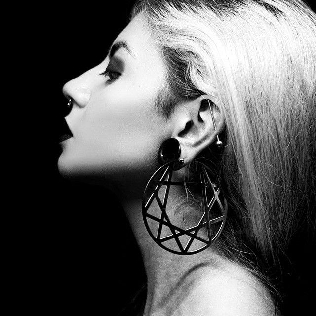 Enneagram Earrings by Killstar.  photo by Beatriz Mariano