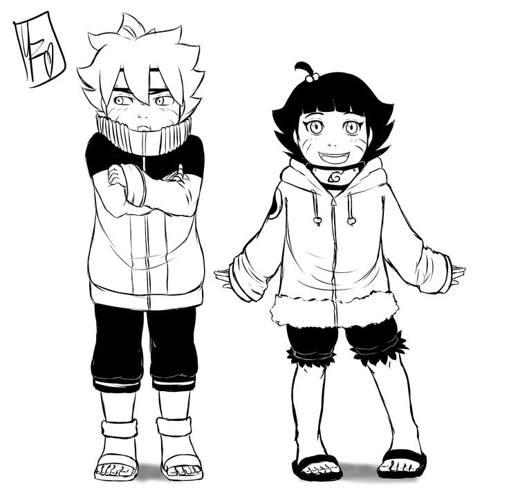 Naruto Dressup By Spacecoma On Deviantart: Boruto And Himawari Dress Up As Their Parents