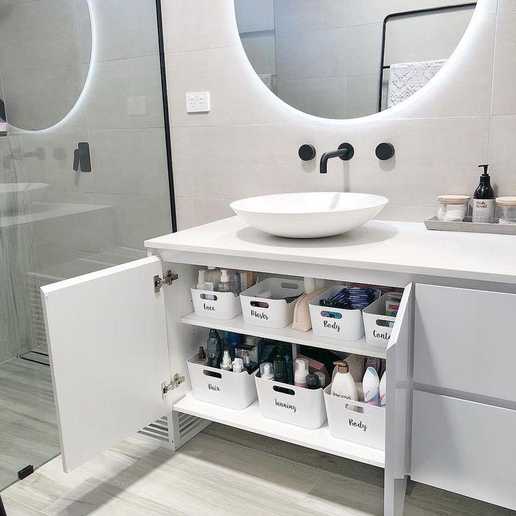 Was für eine großartige und kostengünstige Möglichkeit, Ihr Badezimmer zu organisieren! #Repost Nur noch ein