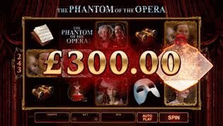 The Phantom of the Opera™ online slot. Immersing players in the timeless drama of this iconic brand, The Phantom of the Opera™ online slot includes innovative features and an unmistakable musical score.