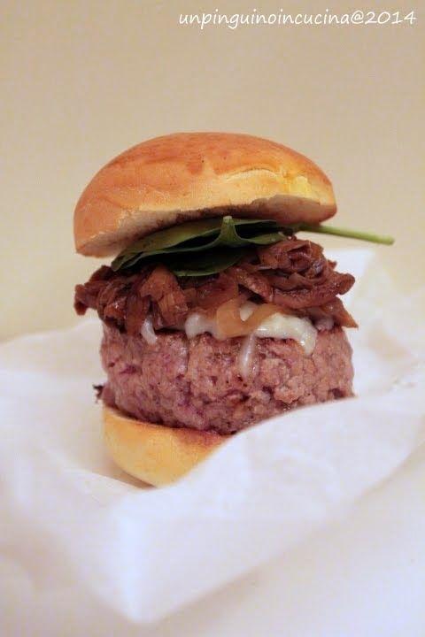 Hamburger di vitello ai funghi porcini | Un Pinguino in cucina