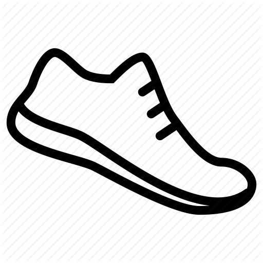 Icons Athletic White Outline Of Athletic Shoes